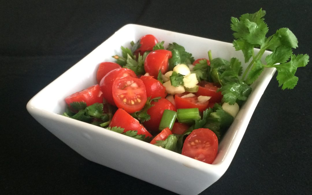 "The ""Spring Cleaning"" Chop Salad feat. Cleansing Cilantro & Lovely Lycopene"